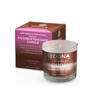 Массажная свеча DONA Kissable Massage Candle Chocolate Mousse